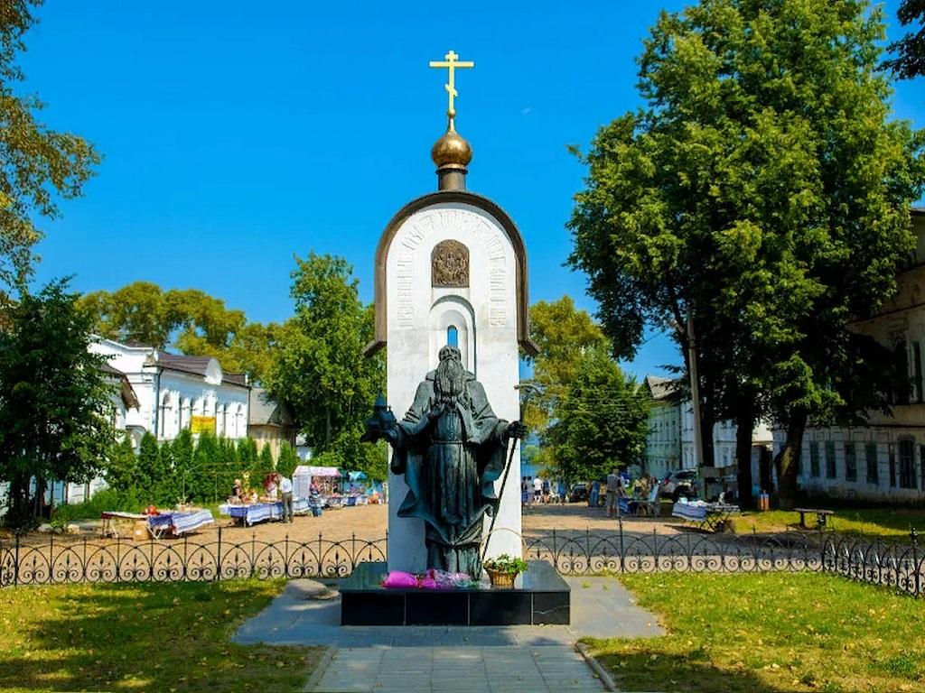 Стоянка в городе Калязин